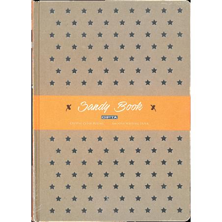 SANDY BOOK SERT KAPAK 120 YAP. KARELİ DEFTER,19X26 CM