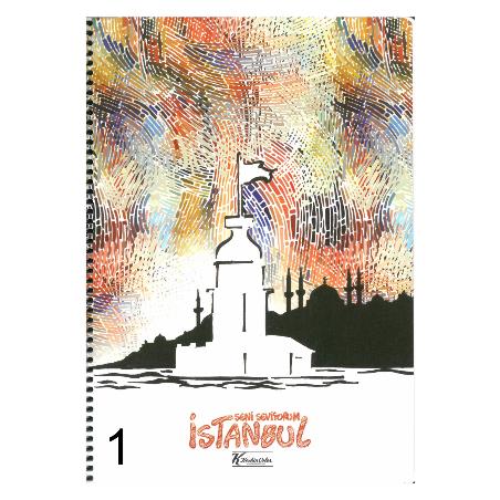 KESKİN COLOR İSTANBUL LOVE A4 SP. 80 YAP. KARELİ DEFTER