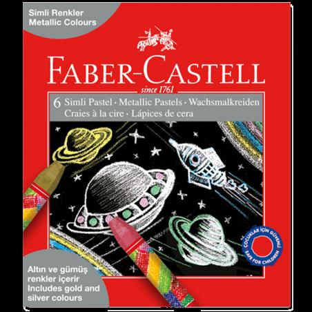 FABER-CASTELL 6 RENK SİMLİ PASTEL BOYA