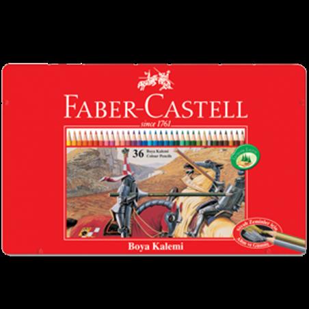 FABER-CASTELL 36 RENK KURUBOYA, METAL KUTU
