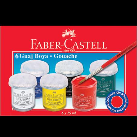 FABER-CASTELL 6 RENK GUAJ BOYA