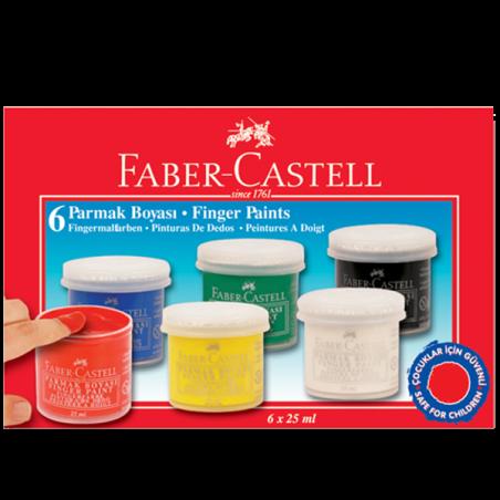 FABER-CASTELL 6 RENK PARMAK BOYASI, 25 ML