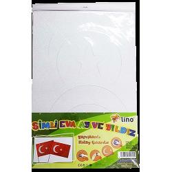 LİNO SİMLİ EVA AY VE YILDIZ  40X60 CM. 2 ADET